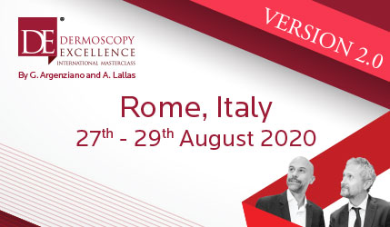 Dermoscopy Excellence 2020 Agosto | Segreteria organizzativa: MEETER CONGRESSI | International Masterclass | Roma, 27-29 Agosto 2020